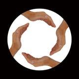 χέρια κύκλων Στοκ εικόνα με δικαίωμα ελεύθερης χρήσης