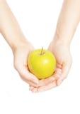 χέρια μήλων Στοκ φωτογραφία με δικαίωμα ελεύθερης χρήσης