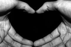 Χέρια με την καρδιά Στοκ Φωτογραφία