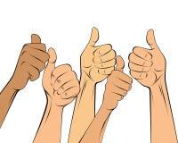 Χέρια με την ομοειδή χειρονομία Διανυσματική απεικόνιση