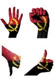 Χέρια με τις πολλαπλάσιες χειρονομίες (η ανοικτή παλάμη, κλειστή πυγμή, φυλλομετρεί επάνω Στοκ εικόνες με δικαίωμα ελεύθερης χρήσης