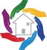 Χέρια με το σπίτι απεικόνιση αποθεμάτων
