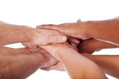 Χέρια με το σύμβολο της πίστης Στοκ Φωτογραφία