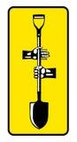 Χέρια με το φτυάρι Στοκ εικόνα με δικαίωμα ελεύθερης χρήσης