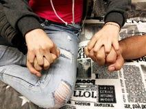 Χέρια οικογενειακής εκμετάλλευσης Στοκ φωτογραφία με δικαίωμα ελεύθερης χρήσης