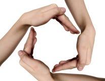 χέρια παιδιών Στοκ Εικόνες