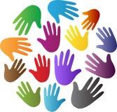 Χέρια ποικιλομορφίας απεικόνιση αποθεμάτων
