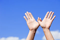 χέρια πουλιών που γίνονται ελεύθερη απεικόνιση δικαιώματος