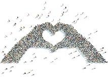 Χέρια που απεικονίζουν την καρδιά Στοκ Φωτογραφία