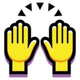 Χέρια που απομονώνονται επάνω στο άσπρο υπόβαθρο Στοκ Εικόνες