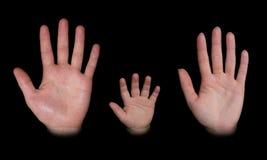 χέρια που απομονώνονται Στοκ εικόνα με δικαίωμα ελεύθερης χρήσης