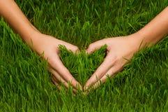 Χέρια που κάνουν το σύμβολο καρδιών Στοκ φωτογραφία με δικαίωμα ελεύθερης χρήσης