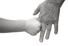 χέρια που κρατούν τις παλαιές νεολαίες Στοκ φωτογραφία με δικαίωμα ελεύθερης χρήσης