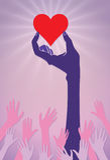 Χέρια που φθάνουν για μια καρδιά Στοκ Εικόνα