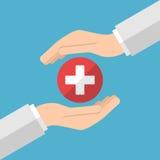 Χέρια που φροντίζουν για την υγεία στοκ εικόνες