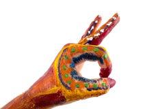 χέρια που χρωματίζονται Δημιουργικά, αστεία και καλλιτεχνικά μέσα ευτυχή! Απομονώστε Στοκ εικόνες με δικαίωμα ελεύθερης χρήσης