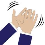 Χέρια που χτυπούν το σύμβολο Διανυσματικά εικονίδια για τα τηλεοπτικούς, κινητούς apps, τους ιστοχώρους και τα προγράμματα τυπωμέ ελεύθερη απεικόνιση δικαιώματος