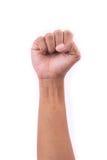 0 χέρια στα άσπρα υπόβαθρα Στοκ εικόνα με δικαίωμα ελεύθερης χρήσης