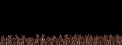 Χέρια στη συναυλία βράχου στοκ εικόνες με δικαίωμα ελεύθερης χρήσης