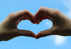 Χέρια της αγάπης Στοκ Εικόνες