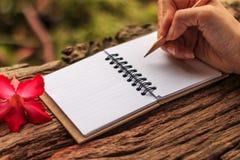 Χέρια του γραψίματος κοριτσιών Στοκ Εικόνες