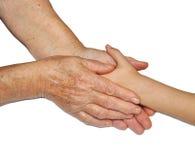 χέρια το παλαιό s παιδιών στοκ φωτογραφία με δικαίωμα ελεύθερης χρήσης