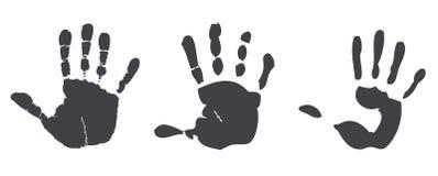 Χέρια τυπωμένων υλών Στοκ Εικόνες