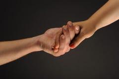 χέρια φροντίδας Στοκ Φωτογραφία
