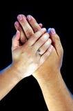 χέρια φροντίδας Στοκ εικόνα με δικαίωμα ελεύθερης χρήσης