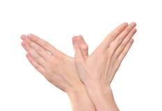 χέρια χειρονομίας Στοκ Φωτογραφίες