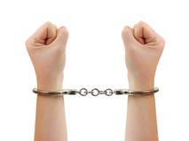 χέρια χειροπεδών Στοκ φωτογραφίες με δικαίωμα ελεύθερης χρήσης
