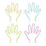 Χέρια χρώματος Στοκ Εικόνες