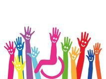 Χέρια ως σύμβολο του συνυπολογισμού και της ολοκλήρωσης απεικόνιση αποθεμάτων