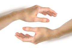 χέρια δύο γυναίκα Στοκ εικόνες με δικαίωμα ελεύθερης χρήσης