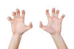 χέρια scary Στοκ εικόνες με δικαίωμα ελεύθερης χρήσης