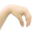χέρι ένα επιλέγοντας γυναίκα του s Στοκ εικόνες με δικαίωμα ελεύθερης χρήσης