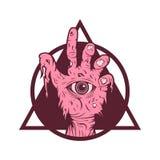 Χέρι ένα Zombie διανυσματική απεικόνιση ματιών απεικόνιση αποθεμάτων