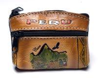χέρι αλλαγής - γίνοντα πορτοφόλι του Περού Στοκ φωτογραφία με δικαίωμα ελεύθερης χρήσης