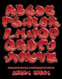 Χέρι αλφάβητου γκράφιτι γραπτό - διανυσματική πηγή Στοκ φωτογραφίες με δικαίωμα ελεύθερης χρήσης