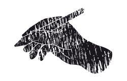 χέρι ανασκόπησης που κάνει πέρα από το άσπρο γράψιμο επιλογής Στοκ Εικόνα