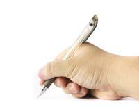 χέρι ανασκόπησης που κάνει πέρα από το άσπρο γράψιμο επιλογής Στοκ φωτογραφίες με δικαίωμα ελεύθερης χρήσης