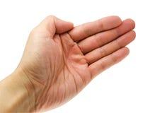 χέρι ανοικτό Στοκ φωτογραφίες με δικαίωμα ελεύθερης χρήσης
