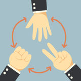 Χέρι ανταγωνισμού απεικόνιση αποθεμάτων