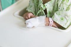 Χέρι ασθενή με μια ενδοφλέβια σταλαγματιά στοκ εικόνες