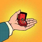 Χέρι ατόμων γαμήλιων δαχτυλιδιών αρραβώνων Στοκ εικόνες με δικαίωμα ελεύθερης χρήσης