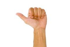 Χέρι ατόμων που κάνει το σύμβολο όπως ή τον αντίχειρα επάνω Στοκ Φωτογραφία