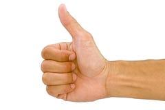 Χέρι ατόμων που κάνει το σύμβολο όπως ή τον αντίχειρα επάνω Στοκ εικόνα με δικαίωμα ελεύθερης χρήσης