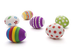 χέρι αυγών Πάσχας που χρωμα στοκ φωτογραφίες με δικαίωμα ελεύθερης χρήσης