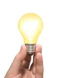 χέρι βολβών ανοικτό κίτρινο Στοκ φωτογραφία με δικαίωμα ελεύθερης χρήσης