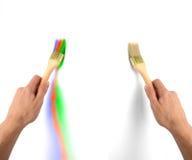 χέρι βουρτσών Στοκ εικόνα με δικαίωμα ελεύθερης χρήσης